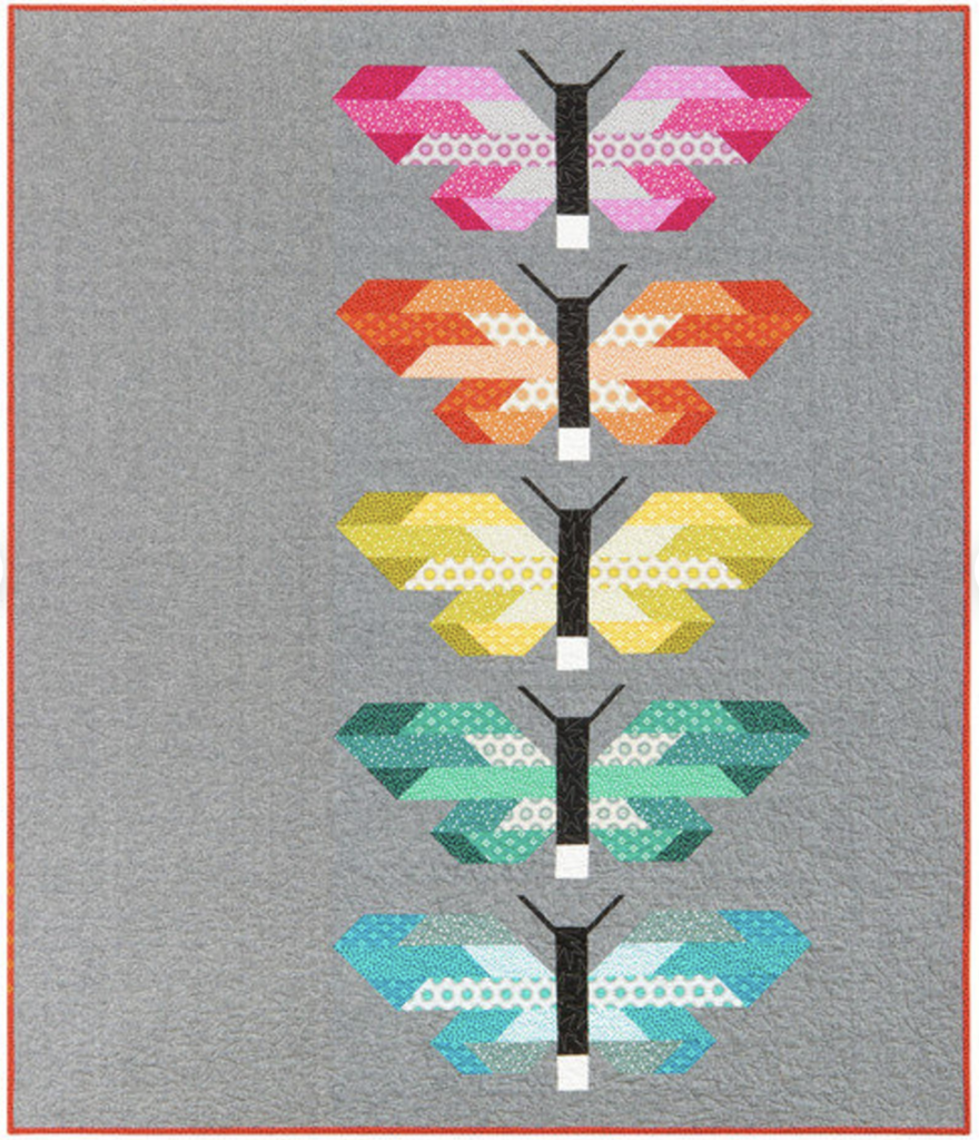 Minimal butterfly quilt kit