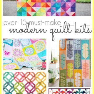 Modern quilt kits to make