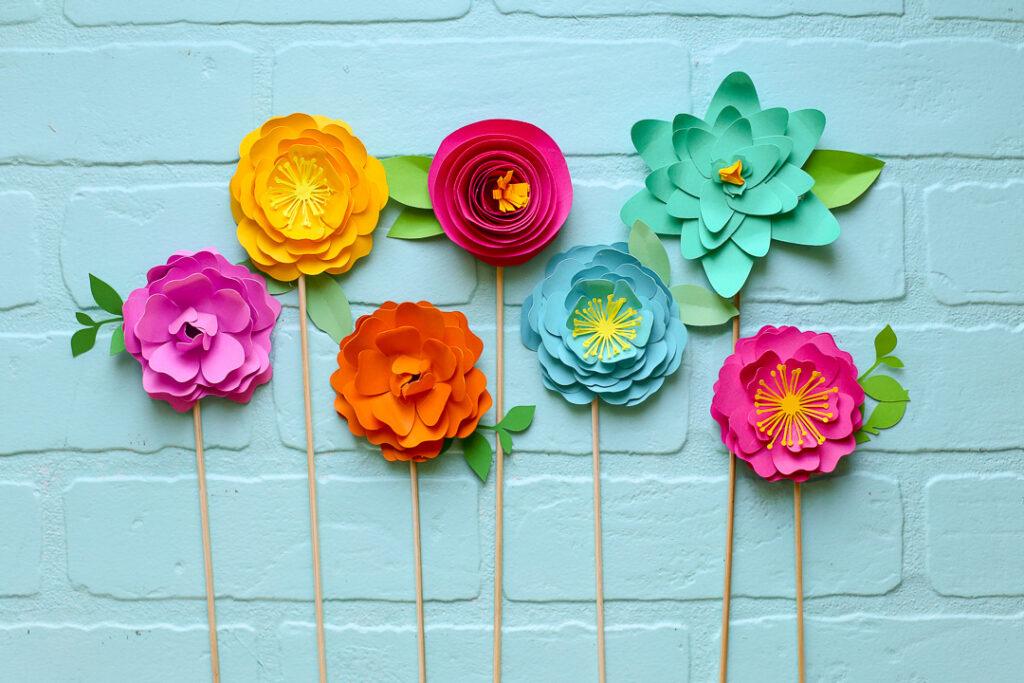 Simple paper flowers 30