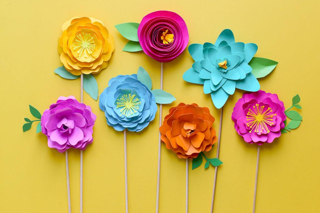 Simple paper flowers 31