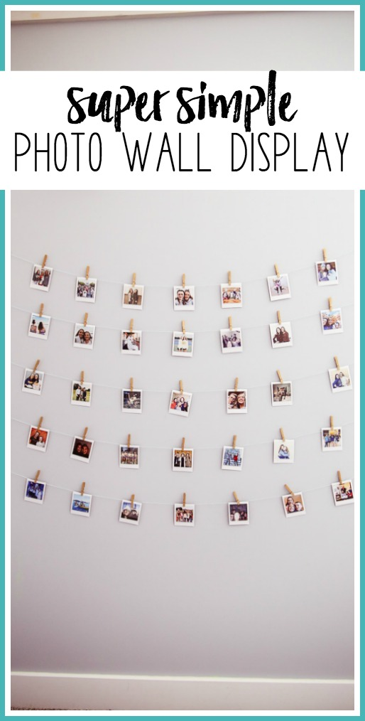 Simple photo wall display idea