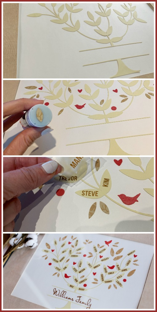 Family tree craft idea mothers day gift