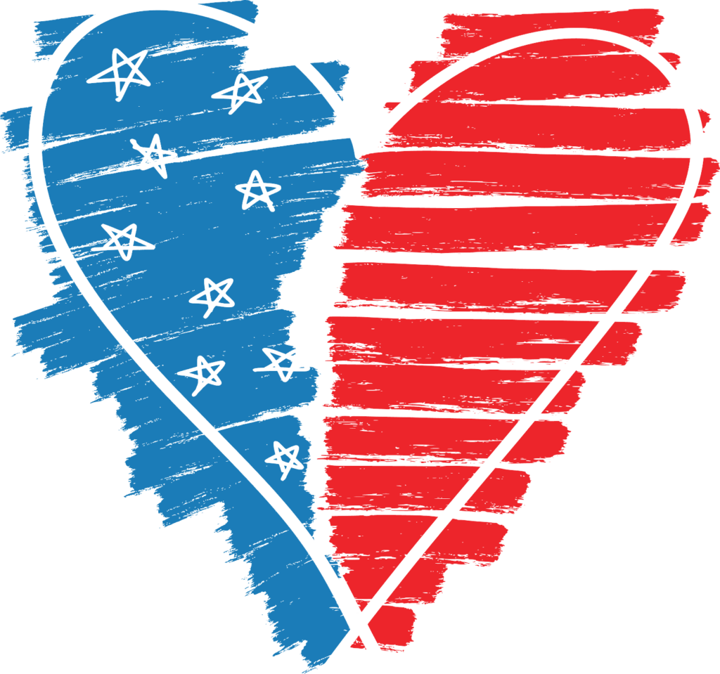 Stars stripes heart png