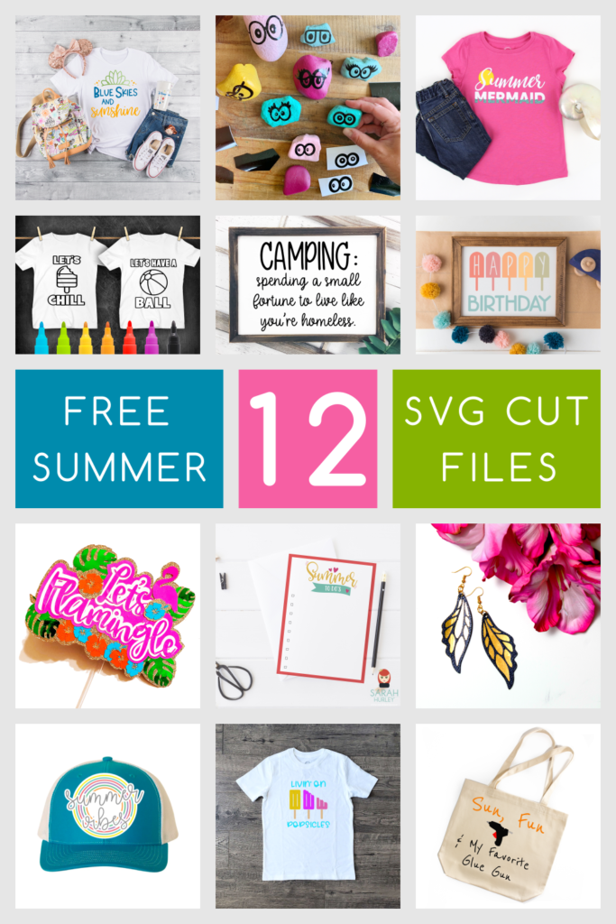 12 free summer svg cut files