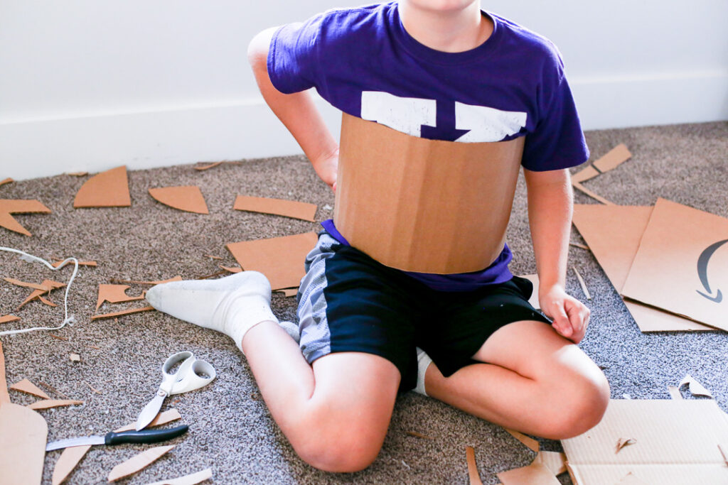Box costume boxtume knight 16