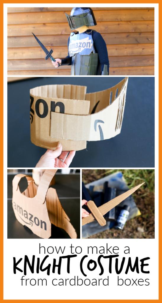Knight costume diy cardboard 1