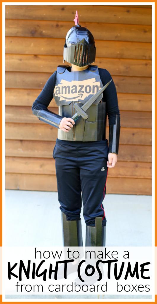 Knight costume diy cardboard