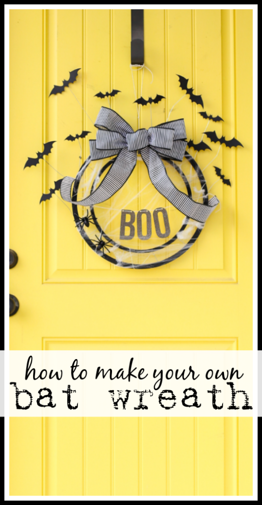 Make a bat wreath craft idea