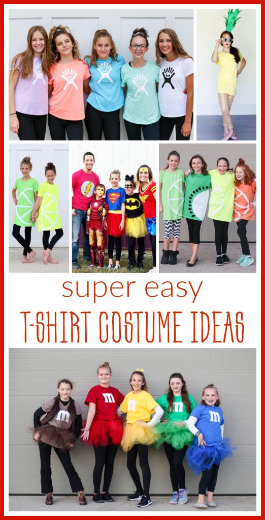 Tshirt costume ideas