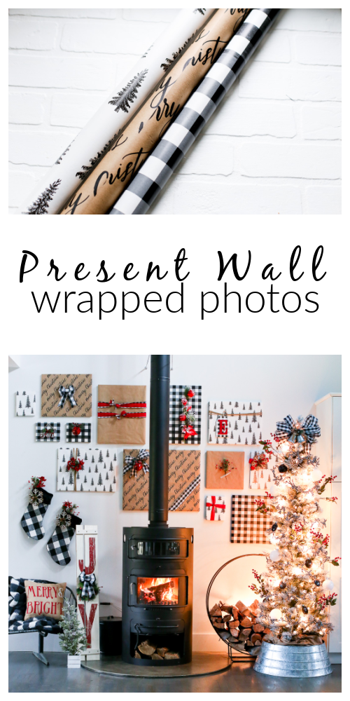 Wrapped photo wall
