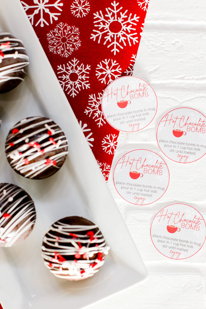 Easy hot chocolate bomb with free printable 8