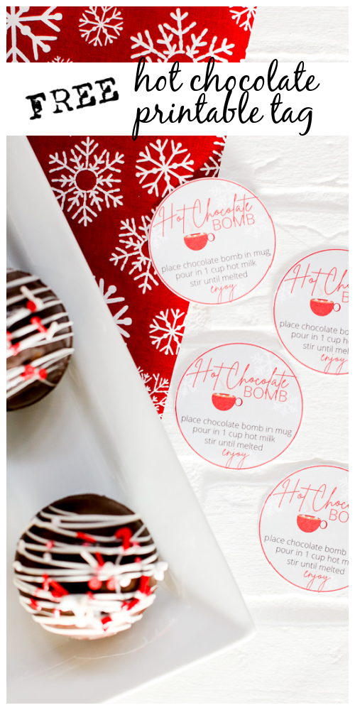 Hot chocolate bomb free printable 1