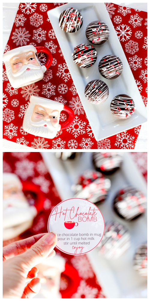 Hot chocolate bomb free printable