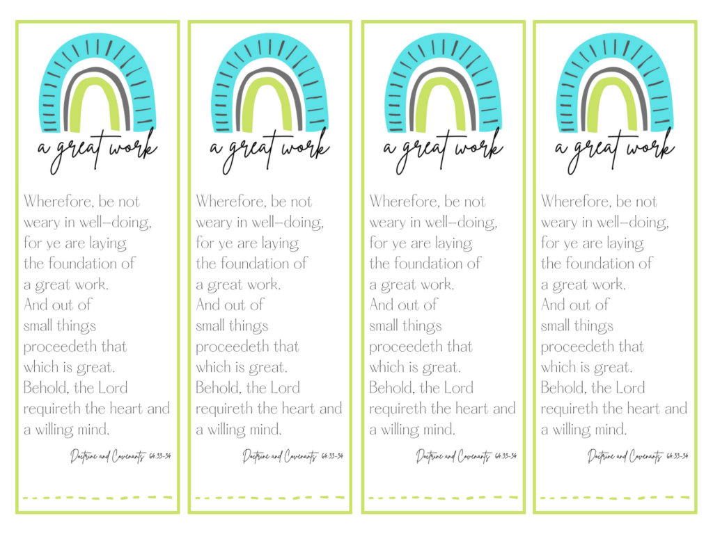 A great work bookmarks
