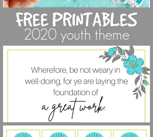 Free printables youth theme 2020 a great work