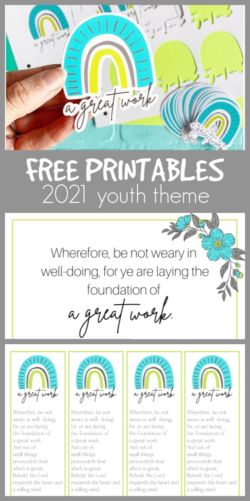 Free printables youth theme 2021 a great work