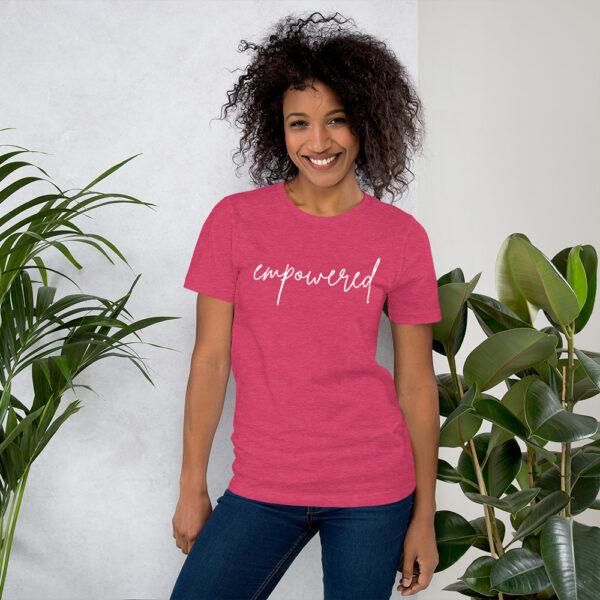 Unisex premium t shirt heather raspberry front 6024061334966