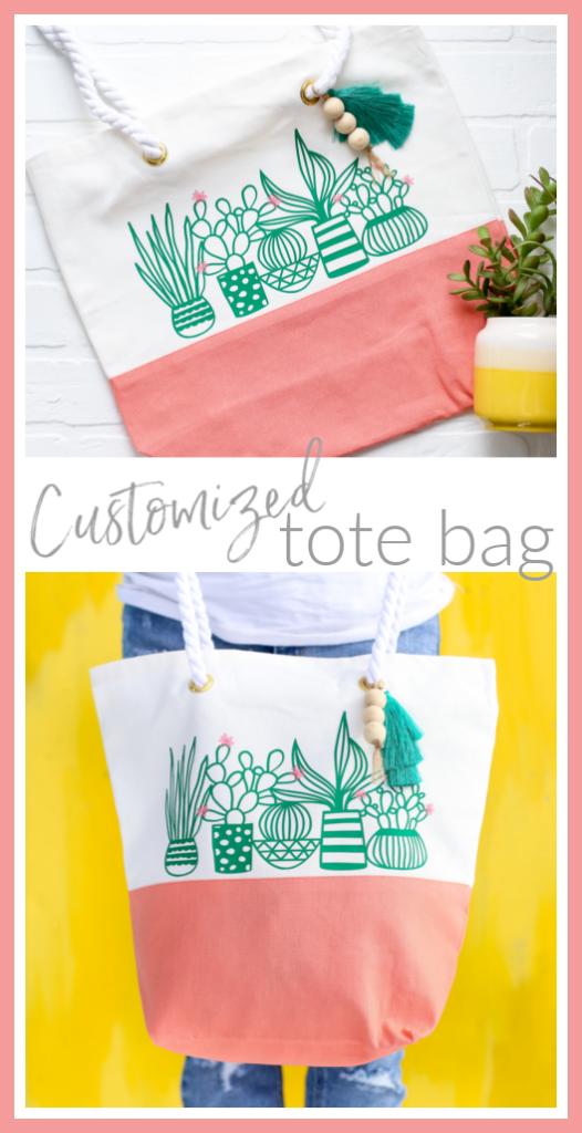 Custom vinyl diy tote bag