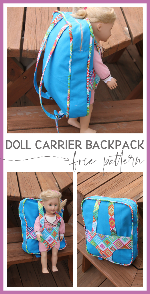 Doll carrier backpack free pattern