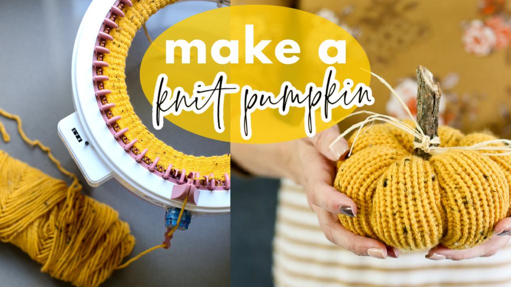 how to make a knit pumpkin 1