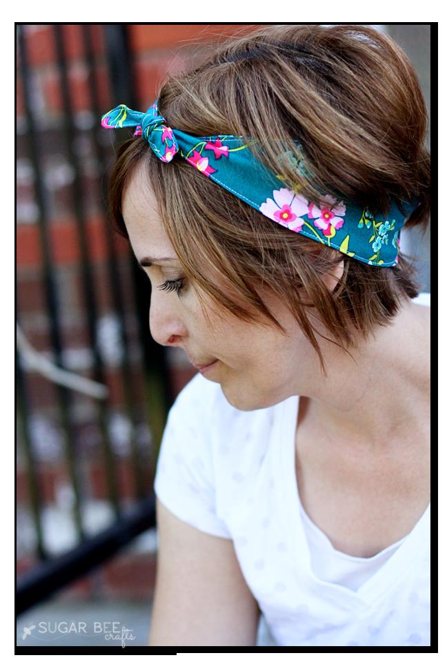 how to make a knot tie fabric headband