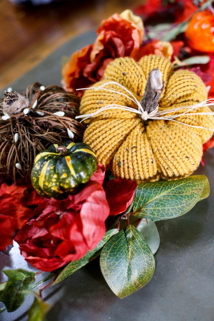 knit pumpkin fall craft idea 10