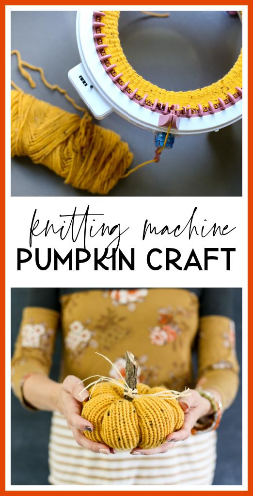 knitting machine pumpkin craft idea